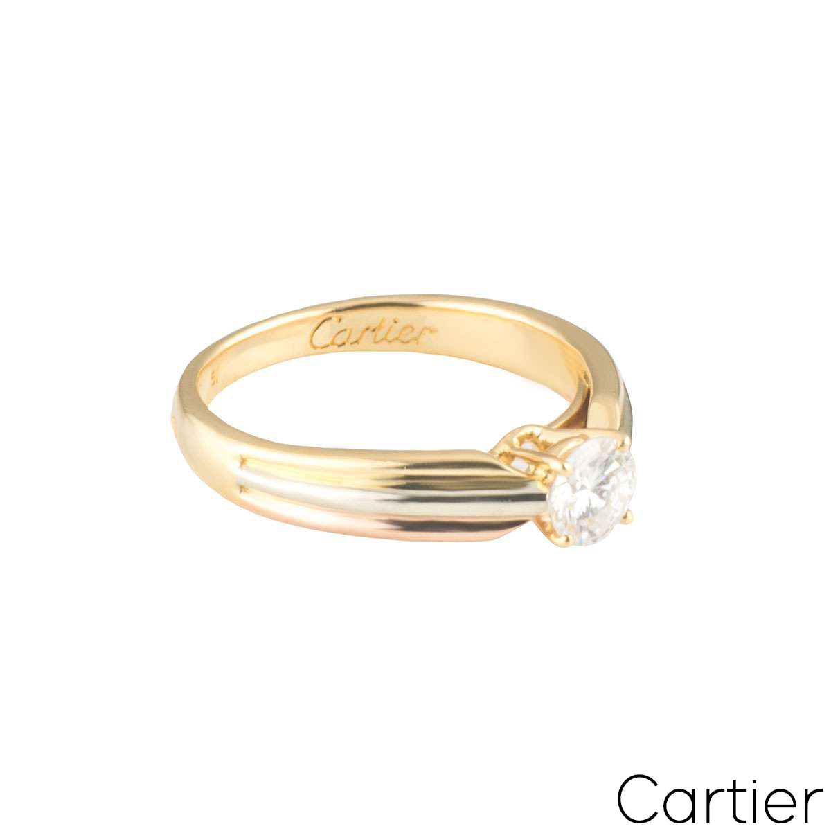 Cartier Trinity Diamond Ring 0.39ct D/VVS2